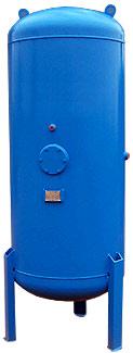Zbiornik pionowy sprężonego powietrza o pojemności 700-2500